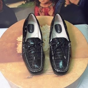 Black Patent Sperry Topsiders